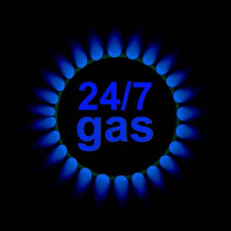 vector flames of gas Stock Photo - 16538875