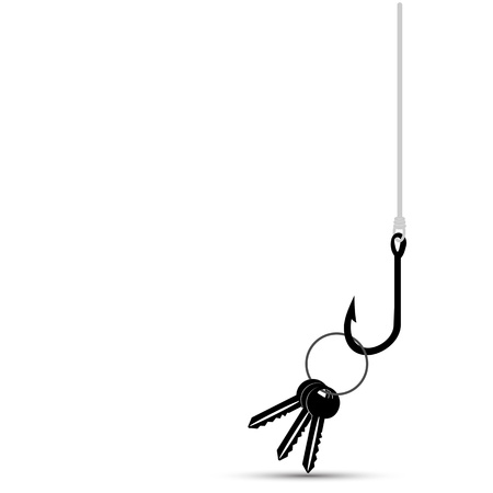 baited: Fish Hook Baited with House Key