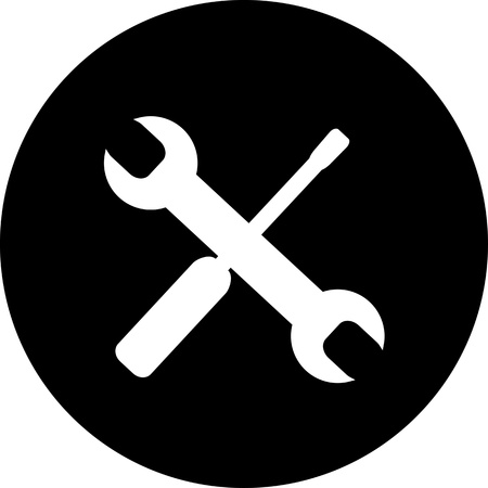 wrench and screwdriver. Stock Photo - 16538410