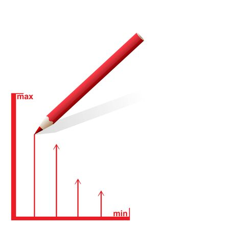 draw a rating scale on paper with a pencil. Stock Photo - 16538468