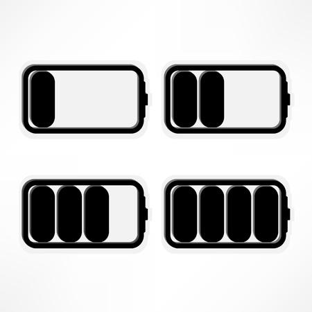 Set of battery charge level indicators  Vector illustration  Stock Illustration - 16538783