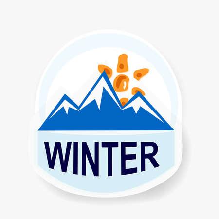 Vector mountain landmark emblem Stock Photo - 16538839