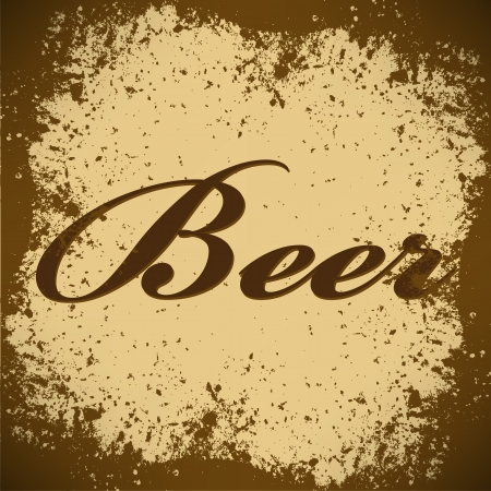 beer Vintage Poster Vector photo