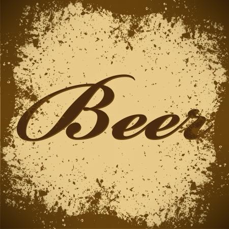 irish pub label design: beer Vintage Poster Vector