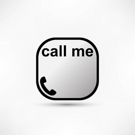 call me: call me icon. Telephone sign