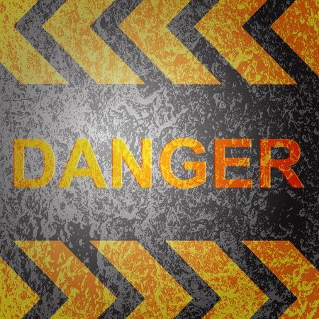 Abstract background with danger warning, vector. Stock Photo - 17397370