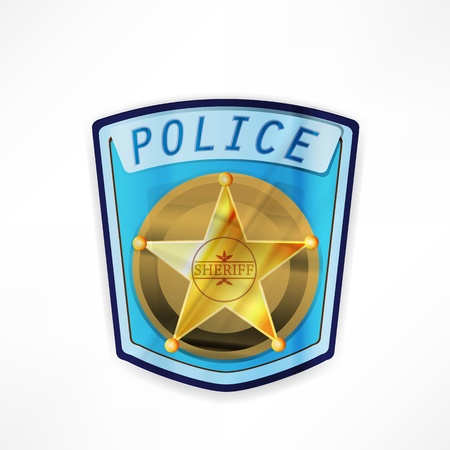 vector police badge Stock Photo - 17397038