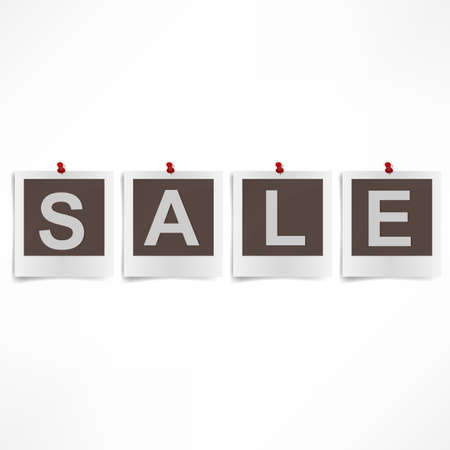 Collection of four  instant sale photographs. Stock Photo - 17396856