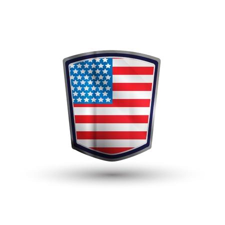 american shield Stock Photo - 17396989