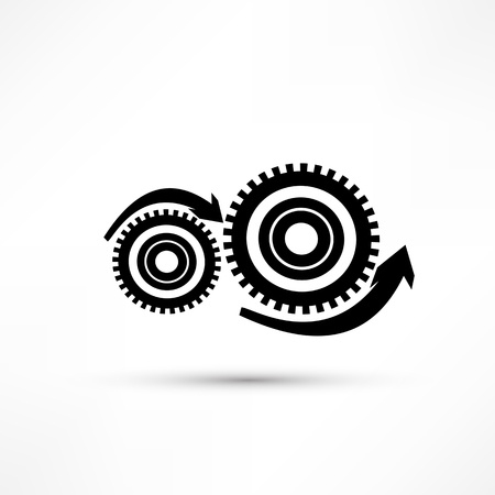 Vector gears, isolated object on white background, technical, mechanical illustration Stock Vector - 17397564