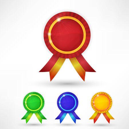 award ribbon: Guarantee Signs and Symbols Illustration