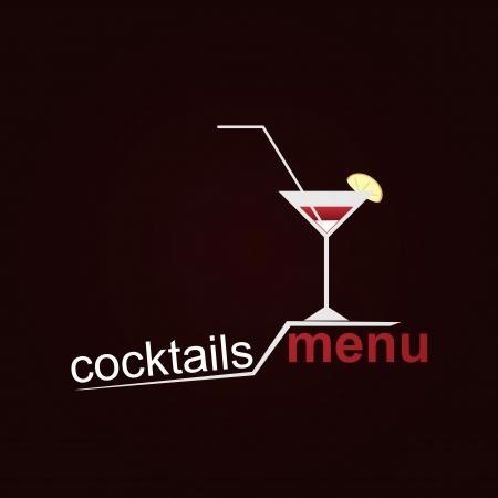 cocktail straw: Coctails Menu Illustration