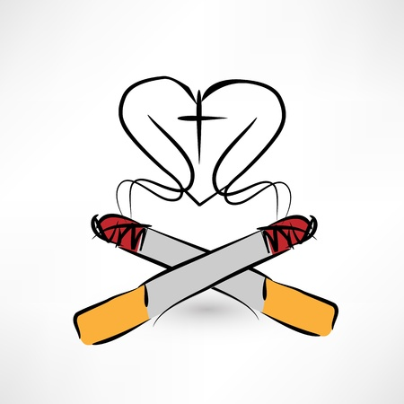 tobacco product: smoking kills Illustration