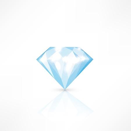 Diamond isolated on white. vector illustration Stock Vector - 17398017
