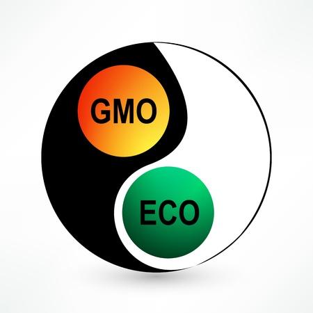 balance environmental and GMO Stock Vector - 17398023