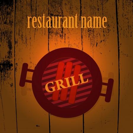 haunch: Grill menu Illustration