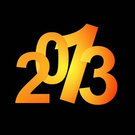 Happy new year 2013 Stock Vector - 17398020