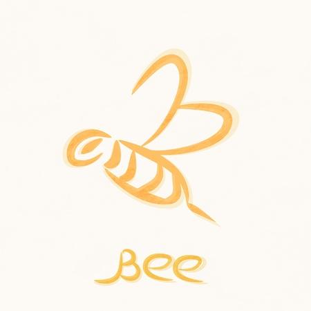miel de abeja: vector, s�mbolo de la abeja de trabajo