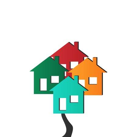 Vector 3D Houses Stock Vector - 17397562