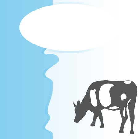 proteins: Background with cow - vector illustration Illustration