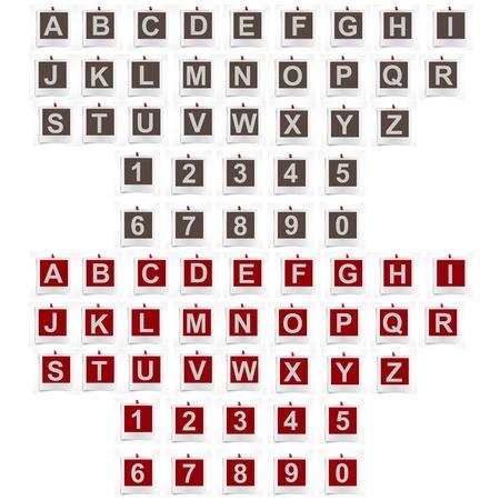 Vector alphabet  in photo frames. Stock Vector - 17398235