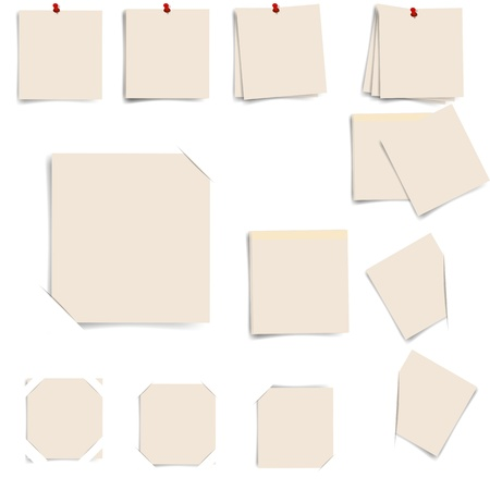 sticky note isolated on white background, vector illustration Vettoriali