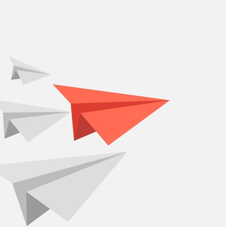 winner red paper paper aircraft Vector