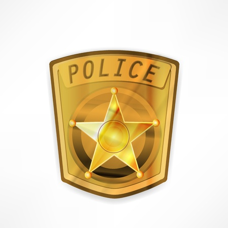 vector police badge Stock Vector - 17398203