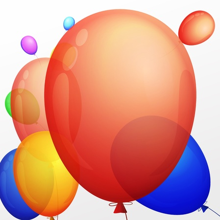 background with a bunch of multicolored balloons Stock Vector - 17398194