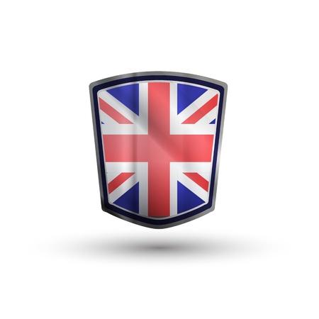 Australia flag on metal shiny shield vector illustration. Stock Vector - 17398172