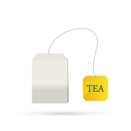 ceylon: tea bag isolated on white background.