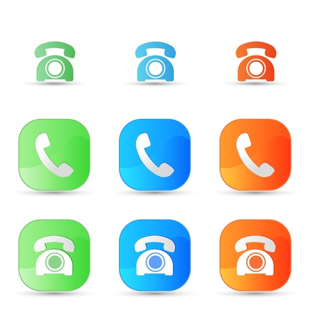 vector old phone icons Stock Vector - 17398104