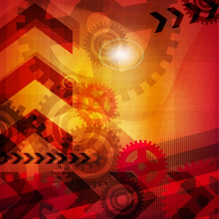 abstract technology background Stock Vector - 17398242