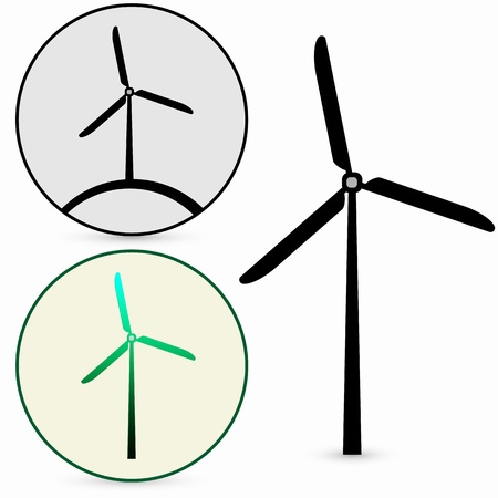 Wind Turbine, vector Stock Vector - 17397913