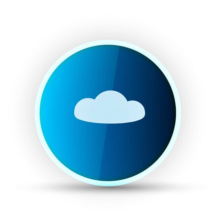 weather blue glossy icon on white background Stock Vector - 17398168