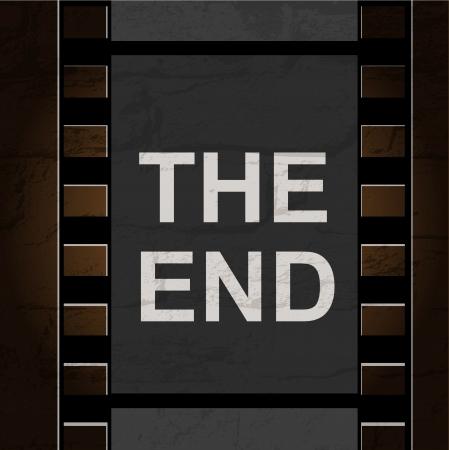 Old filmstrip. Movie ending frame Stock Vector - 17945620