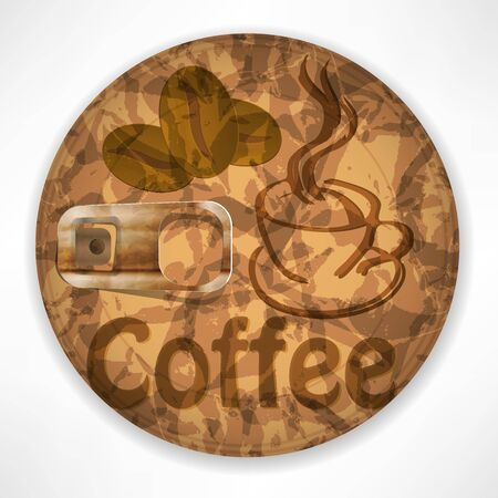 Coffee lid Isolated on White Background Vector