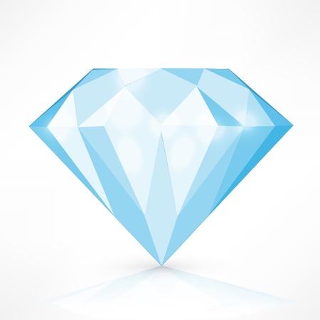 Diamond geïsoleerd op wit. vectorillustratie Stock Illustratie