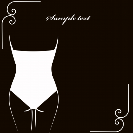 cowards: lingerie card. vector illustration