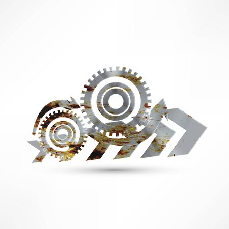 gearshift: Vector gears, isolated object on white background, technical, mechanical illustration