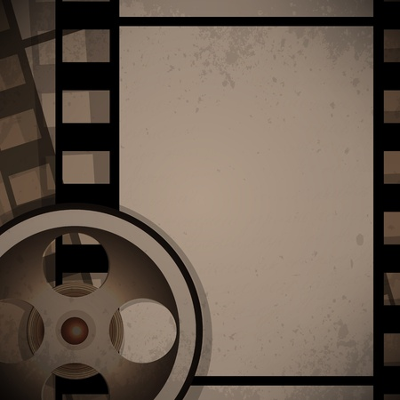 filmmaker: abstract vector film reel concept retro design