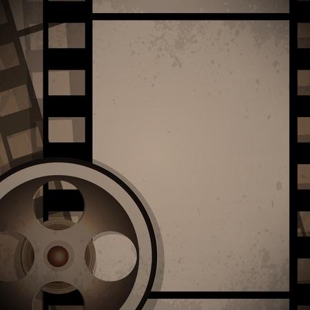 abstract vector film reel concept retro design