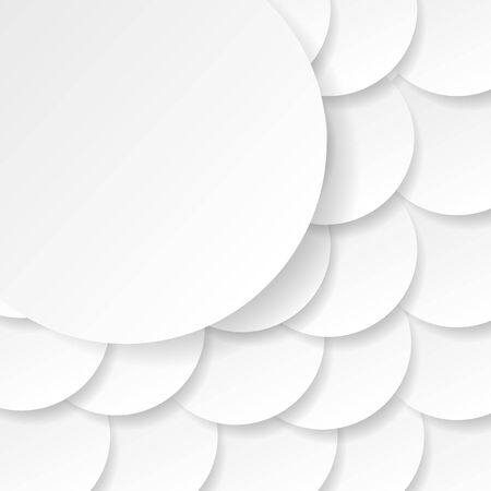 Paper circle banner with drop shadows. Vector illustration Illustration