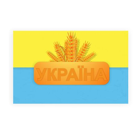 Ukraine Flag Stock Vector - 17945596