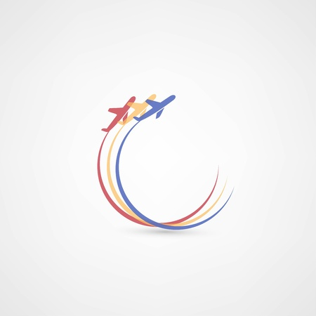 vliegtuig symbolen Stock Illustratie