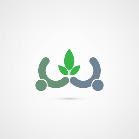 eco people icon Stock Vector - 21983997