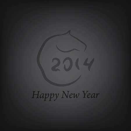 Horse 2014 year chinese Vector
