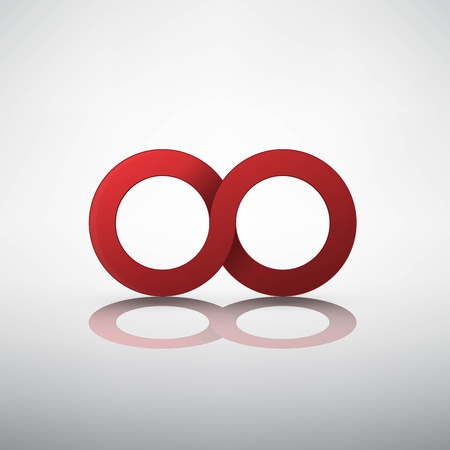 Red infinity sign Stock Vector - 21991262