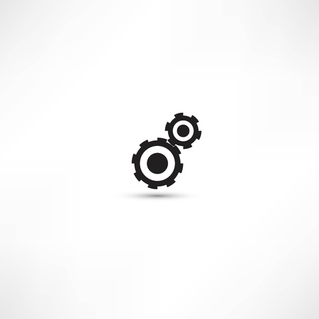 black cogs (gears) on light background Stock Vector - 21991386