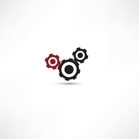 black cogs (gears) on white background Stock Vector - 21991395